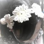おおきなお花のヘアバンド