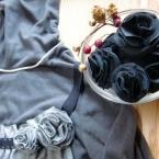 リメイクキャミの残布で花のブローチ