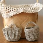 小さな小さなバッグたち~ミニマルシェとバケツトート
