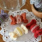 ヘアゴムにもできる編みキャンディー♪