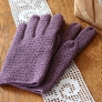 長編みの手袋