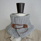 うね編みアレンジのネックウォーマー