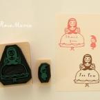 白雪姫と小人スタンプ