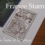 フランス切手 うさぎとかめ