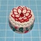 クイリング☆キャップで作るイチゴケーキのマグネット