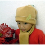 フリースでカンタン。30分で出来る子供の帽子
