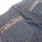 +++ファスナーのムシでジーンズをデコる+++