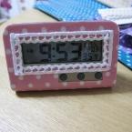 置き時計のデコレーション