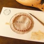 ピンクペッパー・リースの刺繍カード