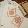 切手フレームの消しゴムハンコ