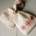 スノーフレークの巾着袋