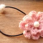 お花ヘアゴム [かぎ針編み]