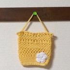 かぎ針編みのミニ手提げ