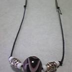 トンボ玉のネックレス
