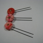 花のヘアピン