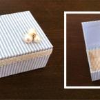 カルトナージュの基本 長方形のふた付き小箱