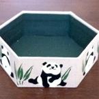 ステンシル布で六角形ボックス