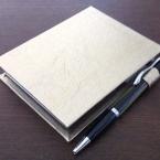 合皮のカルトナージュでメモ帳カバー