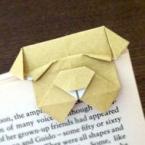折り紙でブルドッグのしおり