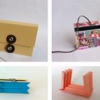 色画用紙で作る結構丈夫な蛇腹のカードケース