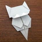 折り紙でネコのしおり
