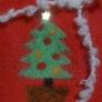簡単キュートなちくちくクリスマスフレーム