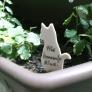 牛乳パックで☆植木鉢のネームプレート