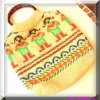 セーターのリメイクバッグ