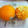 オレンジのキャンドルケース♪