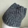 まっすぐ編む帽子