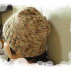 ミックス毛糸で帽子