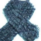 リング編みのプチマフラー