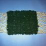 ダンボール 織り  敷物 コースター (毛糸で)