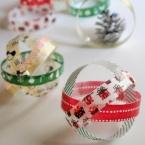 簡単マスキングテープのクリスマスオーナメント