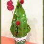 *マステカップにクラフトパンチのクリスマスツリー*