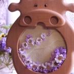 時計のフレームにお花をアレンジ♫