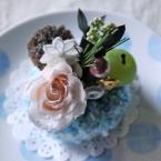 ニットのマカロンでSweets Flower♪