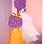 ギガンジウムのお花で作るてるてる坊主♪