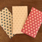 100均の折り紙でポチ袋!