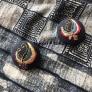 蝶の刺繍ブローチ(民族刺繍風)