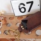 真鍮チェーン付き携帯ケース