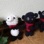 黒い双子とパンダ風♪