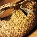 玉編みの手さげバッグ