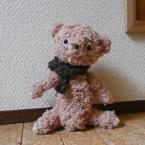 クマさんの編みぐるみ小物入れ♪