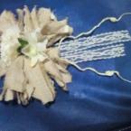 簡単お花のコサージュ