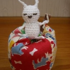 残り糸で…うひひウサギ