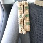 かぎ編みのシートベルトカバー
