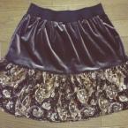 ゴムベルトのギャザースカート