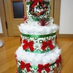 おむつケーキ クリスマスバージョン