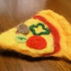 羊毛フェルトでままごとピザ